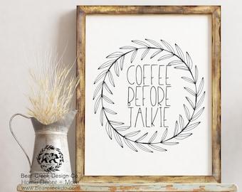 Printable Coffee / Coffee Sign / Coffee Bar Sign / Coffee Gift / But First  Coffee