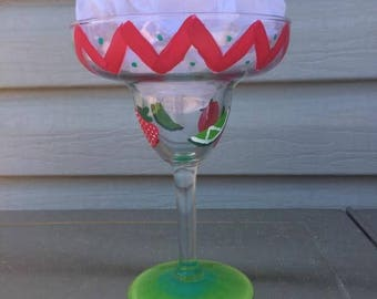 Strawberry Lime Margarita Glass