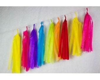 Balloon Tassels, Metallic Tassels, Paper Tassels, DIY Tassel Kits, Balloon Tassel Kits, Tassels for decoration