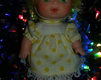 Vintage Yellow Baby Doll