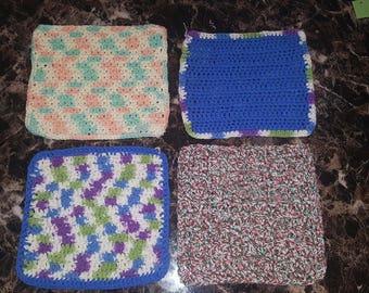 Crochet Dishcloths,Dishcloths,9x9 Dishcloth,Handmade Dishcloth,Handmade Crochet Dishcloth,Cotton Dishcloth, Dishcloths, Dish Rag