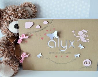 For fairy theme girl baptism guestbook