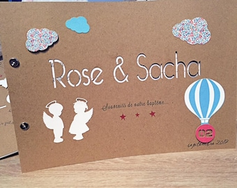 For liberty style girl baptism guestbook