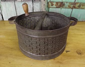 Vintage French Cheese Grater Large