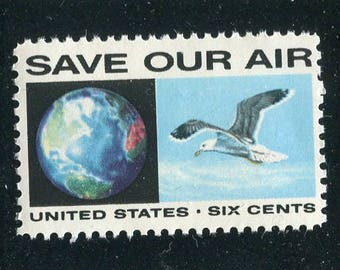 Seagull Stamps/Anti-Pollution Stamps 5 Unused / Postage Stamps/Save Our Air Stamps