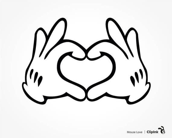 Disney svg Disney clipart Mickey hands Disney love sign