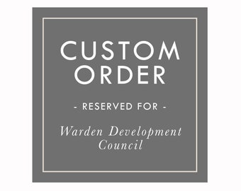 Custom Order Reserved for Warden Development Council, Golf Poster
