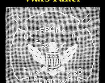 Veterans of Foreign Wars Panel Filet Crochet Pattern