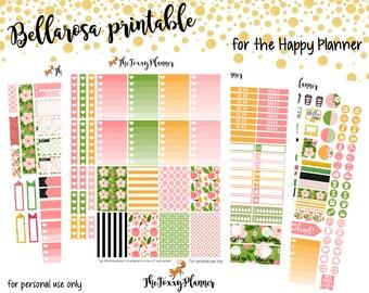 Bellarosa Weekly Kit || Printable Planner Stickers
