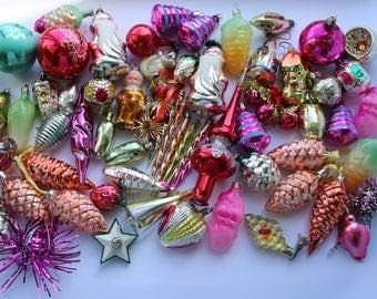 Vintage christmas ornaments etsy for Weihnachtskugeln vintage