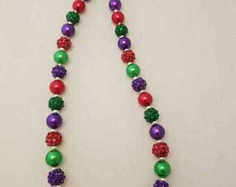 Little mermaid bubblegum bead necklace, toddler jewelry, necklace