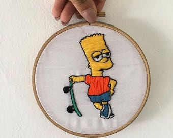 Bart Simpson embroided hoop