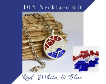 Make Your Own Jewelry Making Kit, Necklace DIY Kit, Do It Yourself Necklace Making Craft Kit, Gift Ideas for Crafter, Bridal Shower Activity