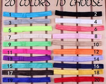 Handmade Solid Candy Nylon Headbands For Baby Girls Hair Accessories Artificial Elastic Band For Headbands