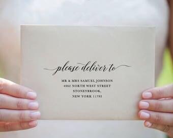Printable Envelope Addressing Template, Wedding Addressed Envelope, Wedding Envelope Template Printable Envelope Return Address  - KPC04_106