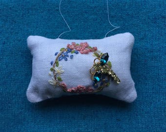 Hand embroidered scented sachet