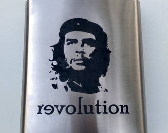 CHE Guevara Revolution Collector Gift Flasks // Gift for Him // Funny Flask // Hip Flask for Men // 21st Birthday Gift // 7 oz
