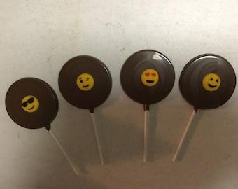 Chocolate Lollipop with sugar Emojis
