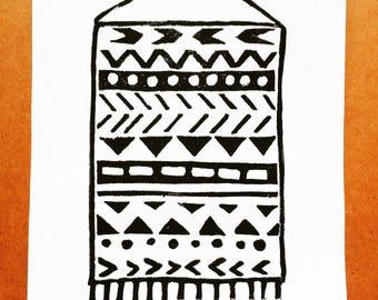 Tapestry | Linocut Print