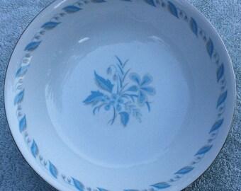 "Abalone China Sky Flower 9"" vegetabe bowl"