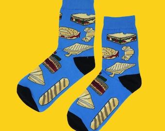 FREE SHIPPING Sandwich them women's socks ladies' socks one size adult socks with croissants hamburger bread