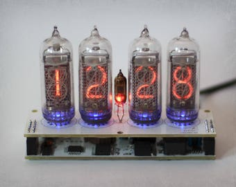 IN-14 Nixie Tube Clock - Nixie Clock with adapter
