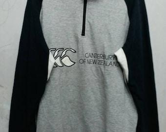 Vintage canterbury half zipper sweatshirt L