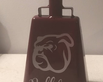 MSU Mississippi State University cowbell - personalized, custom made, monogram, initials