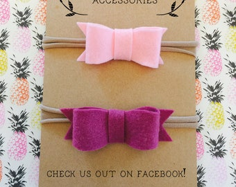 Felt bow headbands