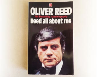 Oliver Reed - Reed All About Me - autobiography vintage first edition paperback book - 1979