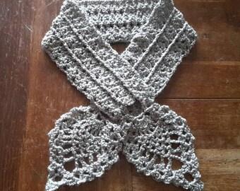 Leaf scarf crochet