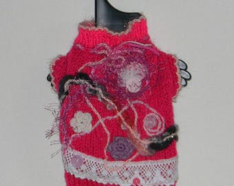 dog clothes, chihuahua, dog sweater hand knitted