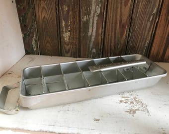 "Vintage Frigidaire ""Quickube"" Metal Ice Tray - Vintage Ice Tray"