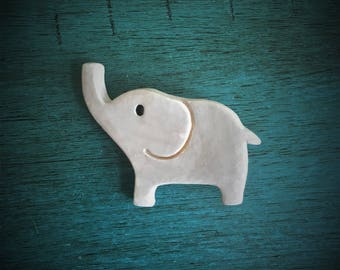 Ceramic Elephant Magnet
