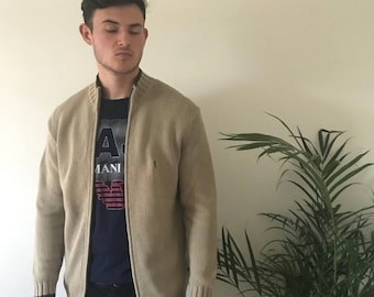 YSL knitted zip up jumper, size S