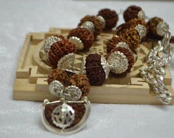 Natural powerful siddha mala one face to 14 face with ganesha and gaurishankar nepal beads
