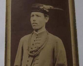 Man with wonderful hat. ORIGINAL PHOTOGRAPH