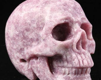 "2.0""Purple Mica Carved Crystal Skull"