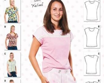 "Miou Miou-Cut pattern Shirt ""Felina"""