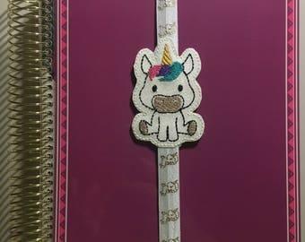 Sitting Unicorn Planner Band/Bookmark