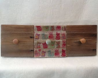 Wooden key/jacket hook rack