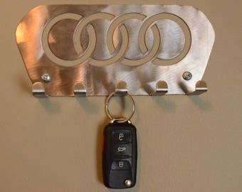 Audi key holder rack, cars, performance, audi tt, audi a3, audi r8, leash holder, hat rack, metal key holder, metal key rack, metal wall art