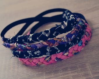 Headband with elastic part (hair, braid)
