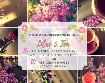 Instagram Bundle, Styled Photo Collection, Styled Photo Shoot, Blog Photo Bundle, Styled Stock Photography, Floral Photo Bundle