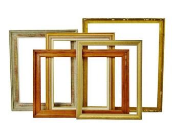 Vintage Wood Picture Frames - Group of 5