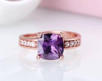 Purple Square Ring
