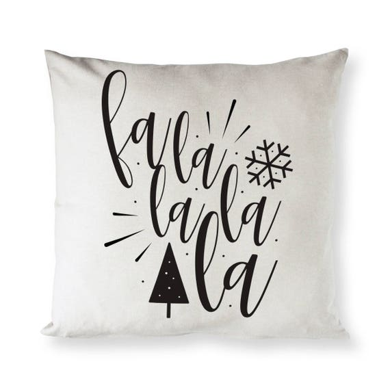 Cotton Canvas Falalalala Christmas Pillow Cover Photo Courtesy of thecottonandcanvasco