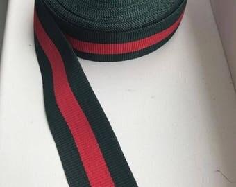 Gucci ribbon green/red