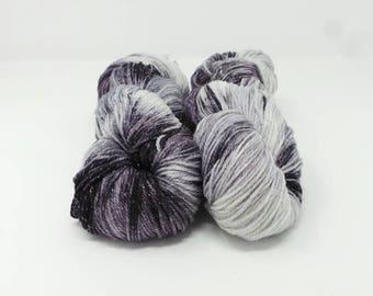 Dot Matrix - 4ply Spark hand dyed yarn – Superwash 75/20/5% Merino / Nylon / Lurex