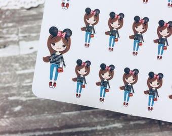 Disney Sticker | Trip Sticker | Vacation Sticker |  Planner Girl Sticker